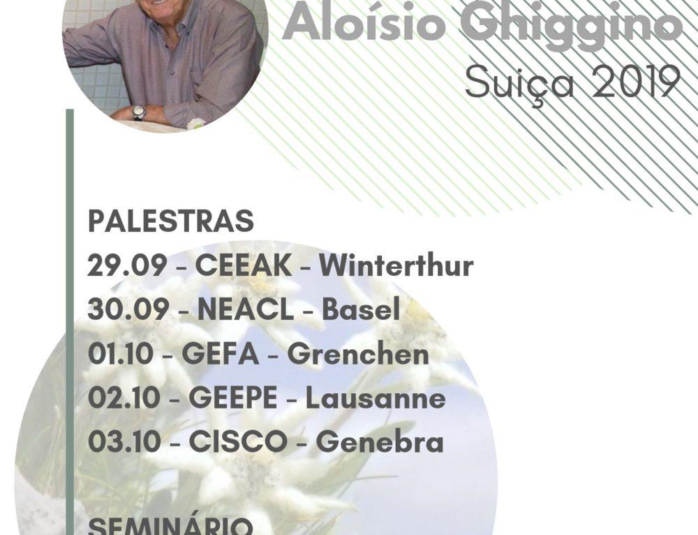 Agenda de Aloísio Ghiggino na Suíça